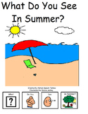 What Do You See In Summer? Interactive book with number/vocabulary, worksheet