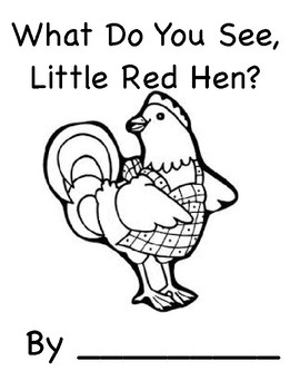 What Do You See, Little Red Hen? (Speech, Autism, Vocabulary)