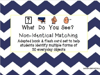 Non-Identical Matching Adapted Book for Special Education