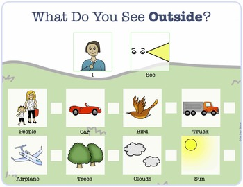 What Do You See Outside? FREEBIE Speech Therapy, PCS, MLU