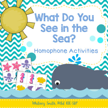 What Do You See in the Sea Homophone Activity Packet