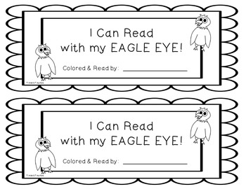 What Do You Spy With Your Eagle Eye? a reading strategy packet