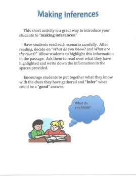 Inferencing: What do you think?