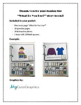 Interactive Book: What Do You Use?