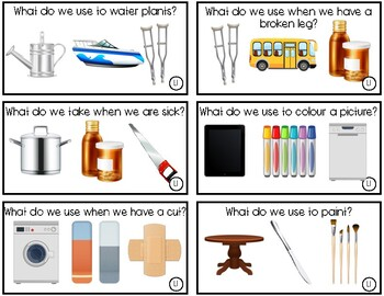 What Do You Use To...? Task Cards