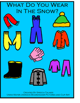 What Do You Wear In The Snow? Interactive book/manipulativ
