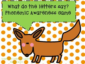 What Do the Letters Say? Phonemic Awareness Game