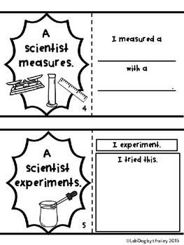 What Does A Scientist Do? A No Prep Mini Book to Introduce Science