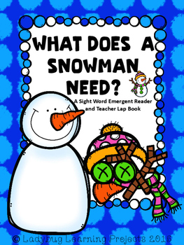 What Does A Snowman Need?  (A Sight Word Emergent Reader a