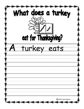 What Does A Turkey Eat For Thanksgiving? -  Writing Prompt