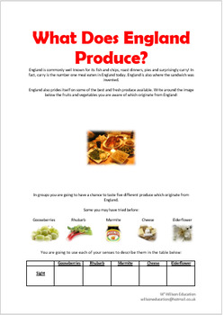 What Does England Produce?
