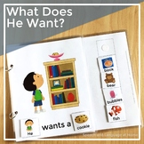 AAC Core Vocabulary Activities | Interactive Books Speech Therapy | What He Want