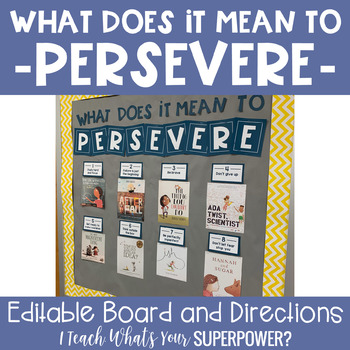What Does It Mean to Persevere Bulletin Board