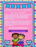 What Does It Mean to be Kind? Graphic Organizers and Writing Template