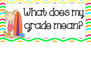 What Does My Grade Mean? Chart Beach/Surf Themed