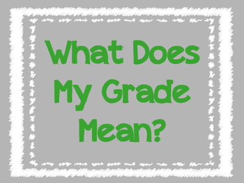 What Does My Grade Mean: Grade Breakdown - No Scores