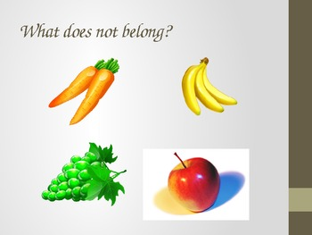What Does Not Belong - Another Game of Categories