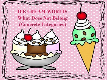 What Does Not Belong: Ice Cream World
