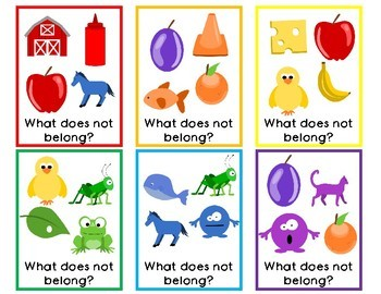 What Does Not Belong-Task Cards