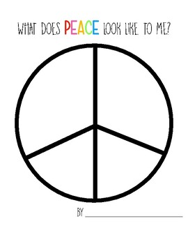 What Does PEACE Look Like To Me: MLK Jr. Day Activity