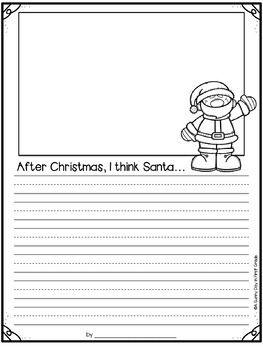 What Does Santa Do After Christmas? (class book freebie)