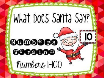 What Does Santa Say? Numbers Version