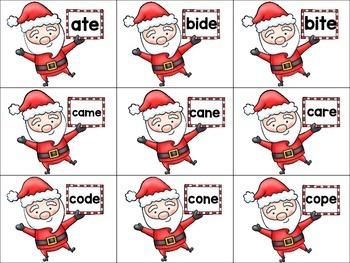 What Does Santa Say? Silent E Long Vowel Version