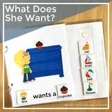 AAC Core Vocabulary Words Interactive Book: What Does She Want?