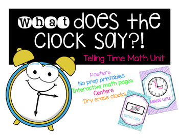 What Does The Clock Say Math Mini unit