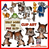 What Does The Fox Say Clip Art Pack - Commercial Use OK