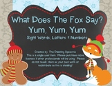 What Does The Fox Say?  PreK & Kindergarten Literacy Practice