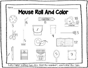 If You Give A Mouse A Cookie (Emergent Reader, I Have Who Has, Roll and Color)