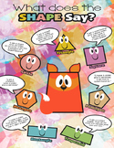 What Does The Shape Say - Poster