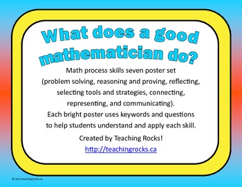 What Does a Good Mathematician Do? Math Process Skills Seven Poster Set