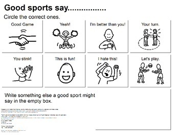 What Does a Good Sport Say?