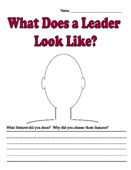 What Does a Leader Look Like? WritingTemplate