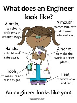 What Does an Engineer Look Like? (Poster) - Girls