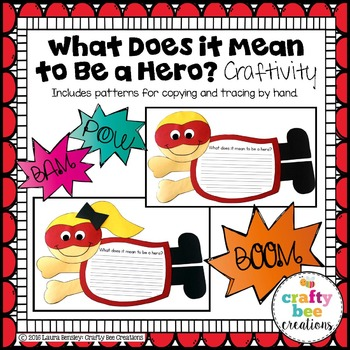 What Does it Mean to Be a Hero Craftivity