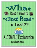What Does it Mean to Close Read a Text?? A Simple Explanation for Educators
