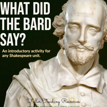 Shakespeare's Language: What Does the Bard Say?