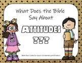 What Does the Bible Say About Attitude?  Bible Task Cards
