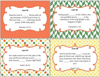 What Does the Bible Say About Joy - Bible Task Cards
