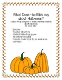 What Does the Bible say about Halloween? A Bible Study for Children