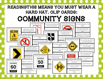 What Does the Community Sign Mean? Clip Cards