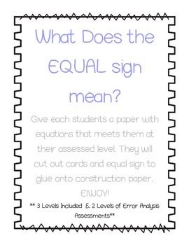 What Does the Equal Sign Mean?