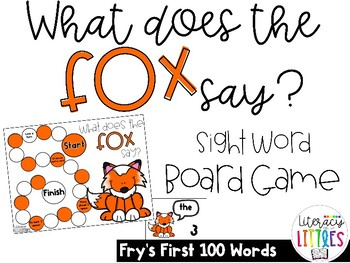 What Does the Fox Say?  {Board Game with Fry's First 100 Words}