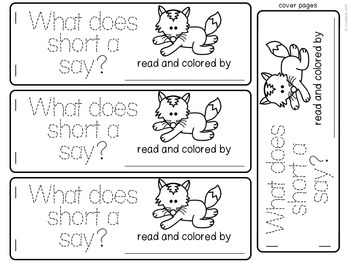 What Does the Fox Say (CVC pattern Book)