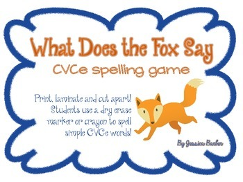 What Does the Fox Say CVCe Word Work Center