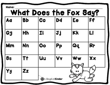 What Does the Fox Say - Initial Sound Identification