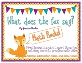 What Does the Fox Say- Math Pack- Addition, Subtraction, Tallies & Place Value